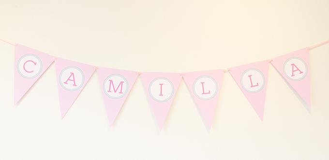Nursery Bunting Flags With Childs Name
