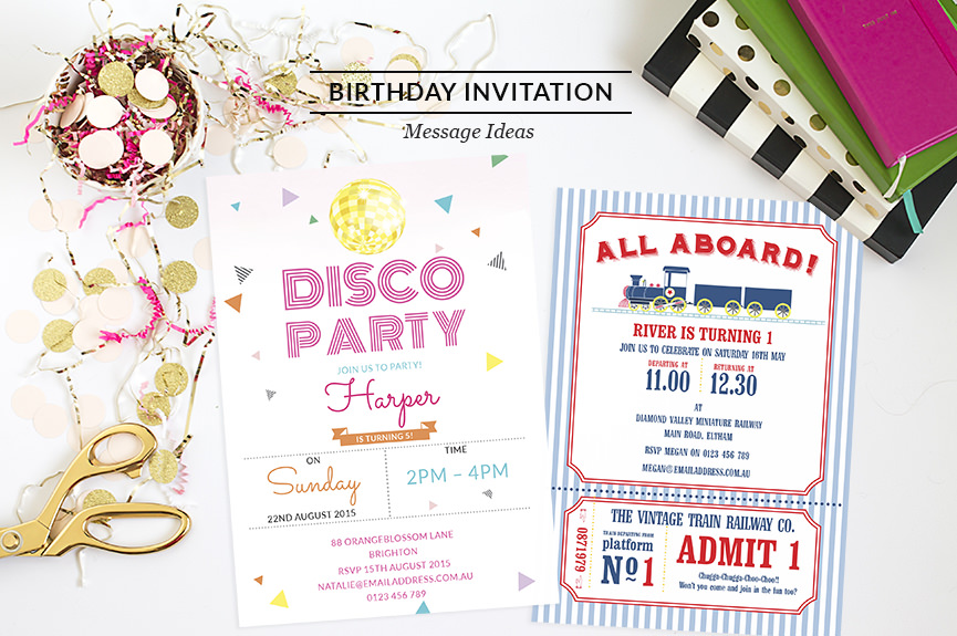 Birthday Invitation Wording Messages – Sample Kids Birthday Invitation