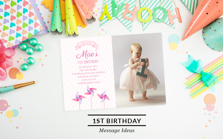 First Birthday Invitation Wording | Love JK